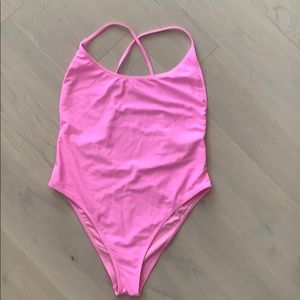 Forever 21 pink one-piece swimsuit